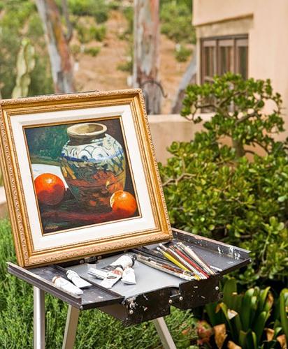 Картина в саду на даче