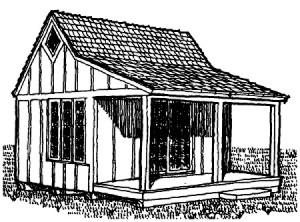 дачный домик 5 х 4 м с террасой