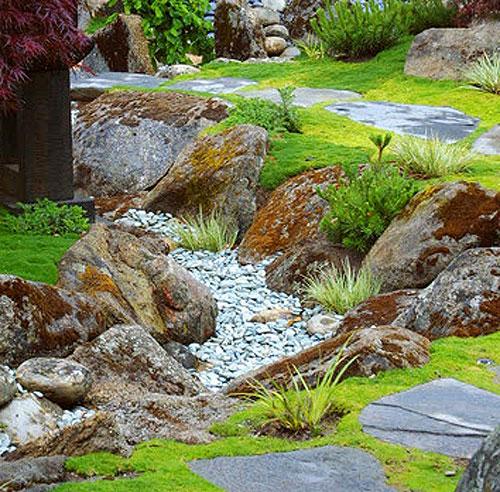 Сухой ручей своими руками в саду и на даче - пошаговое