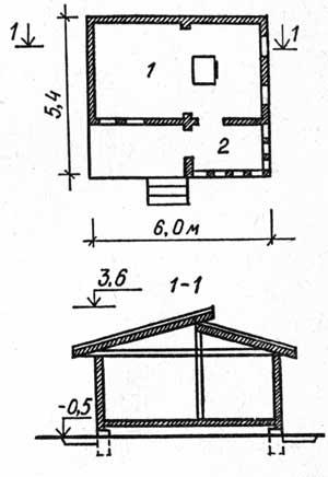 план одноэтажного дачного дома
