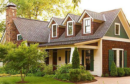Идеи оформления фасада дома фото