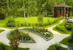 Дизайн двора на участке