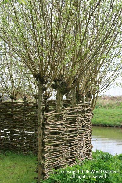 Декоративный плетень на даче