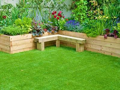 Красиво постриженный рулонный газон