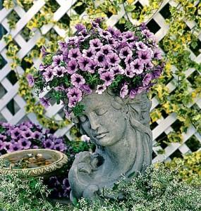 Кадка для цветов в стиле винтаж