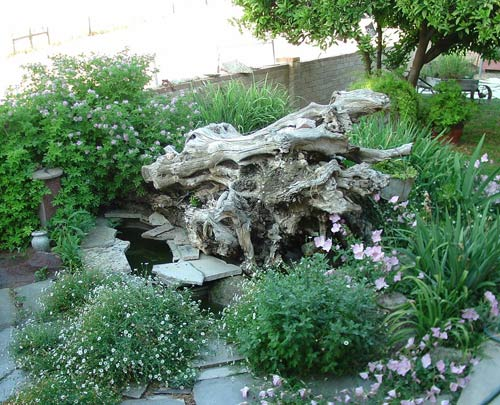 При оформлении садов своими руками