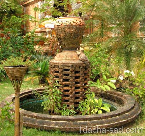 пруд с фонтаном своими руками