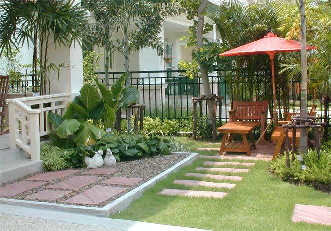 Дизайн двор частного дома фото своими руками