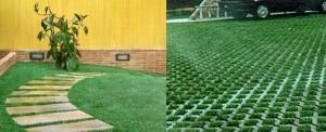 Экопаркинг - бетонная решетка с газоном