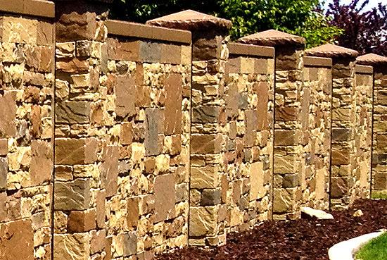 Забор из камня 5