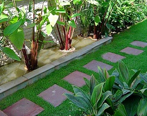 садовая дорожка из плит