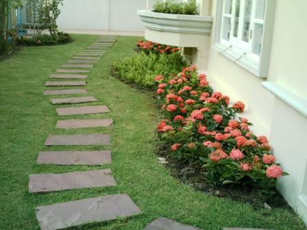 садовая дорожка дизайн из бетонных плит