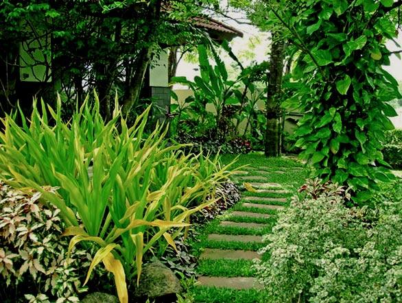 дизайн садовых дорожек из бетонных плит