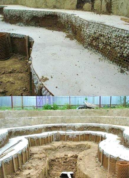 Отделка стен бассейна на даче