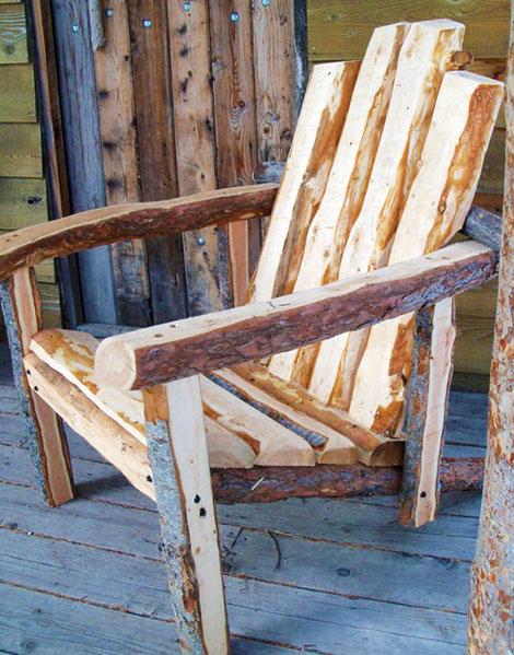 Деревянное кресло охотника