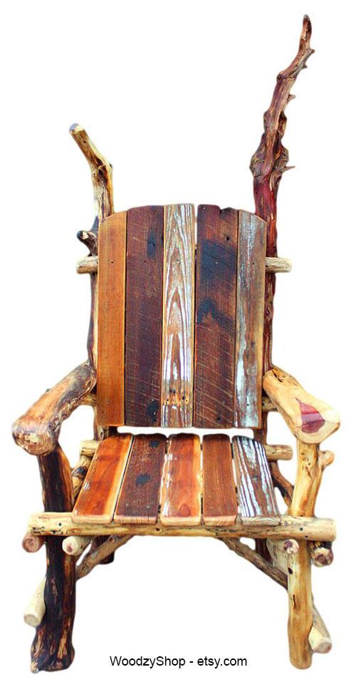 Кресло трон из подручного материала