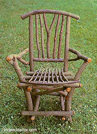 Деревянный стул из веток своими руками
