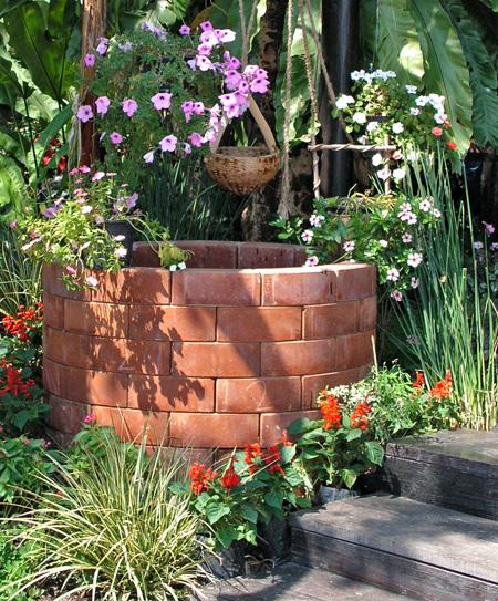 Сад в деревенском стиле стиль кантри