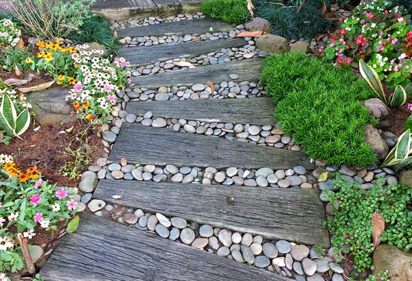 дизайн садовой дорожки