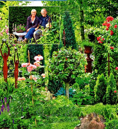 красивый цветущий сад