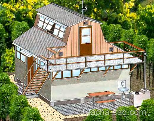 проект двухэтажного дачного домика (4)