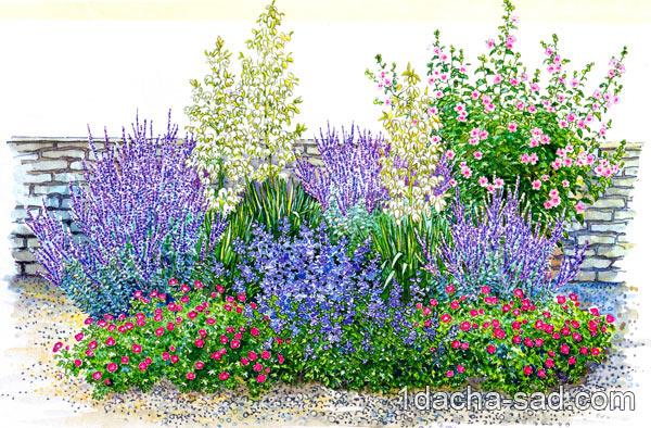 Цветники на солнечной террасе
