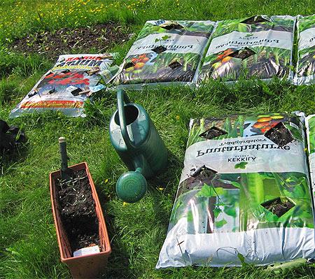 выращивание овощей в пакетах с землей