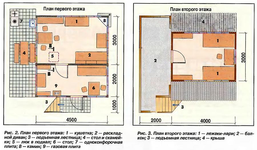 Проект двухэтажного дачного домика 3
