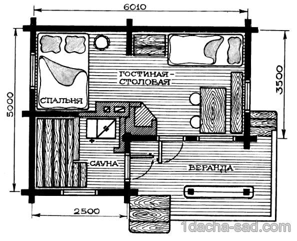 проект дачного дома из бруса (8)