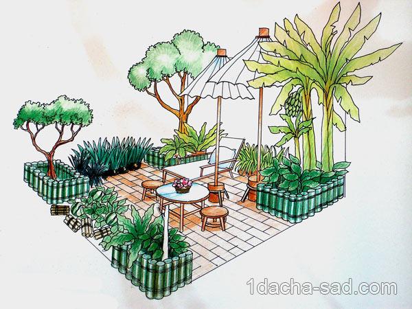 дизайн маленького двора (6)