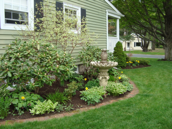 красивые уголки сада - клумбы вокруг дома