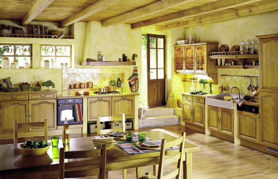 интерьер кухни в стиле прованс фото (8)