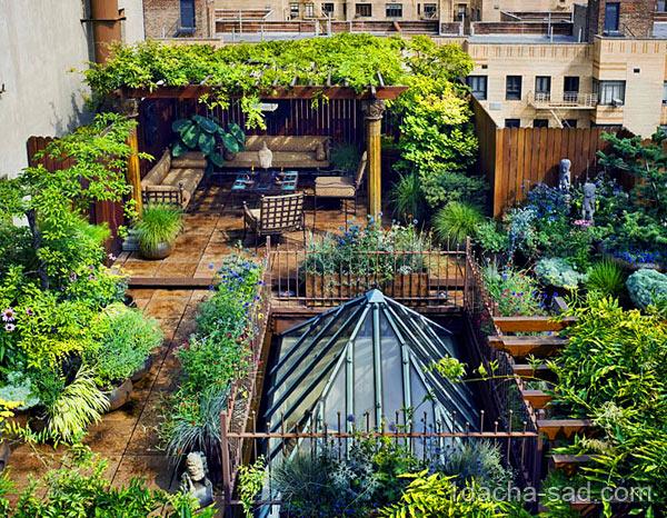 В таком саду на крыше можно делать все