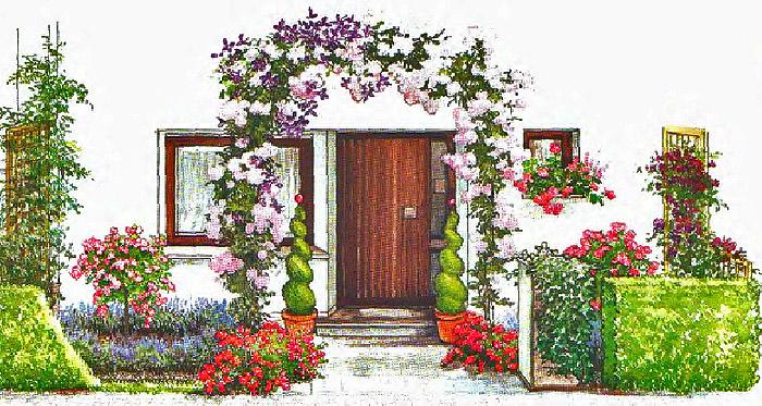дизайн палисадника перед домом