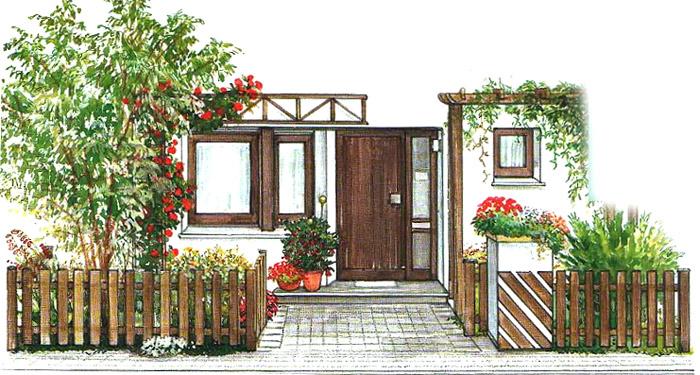 палисадник частного дома