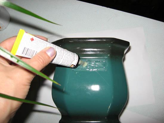 Декор цветочного горшка с помощью