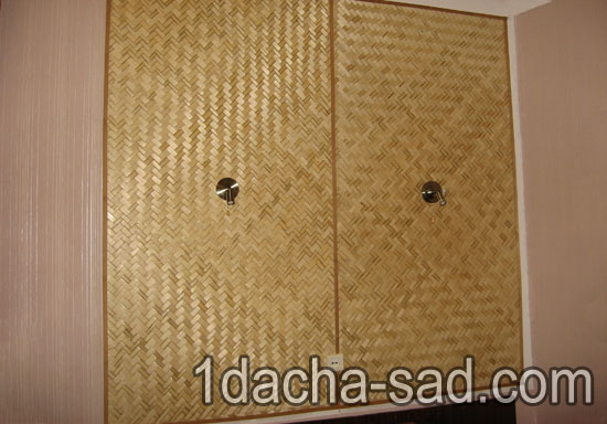Отделка стен бамбуковыми панелями