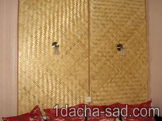 Отделка стен при помощи бамбука 2