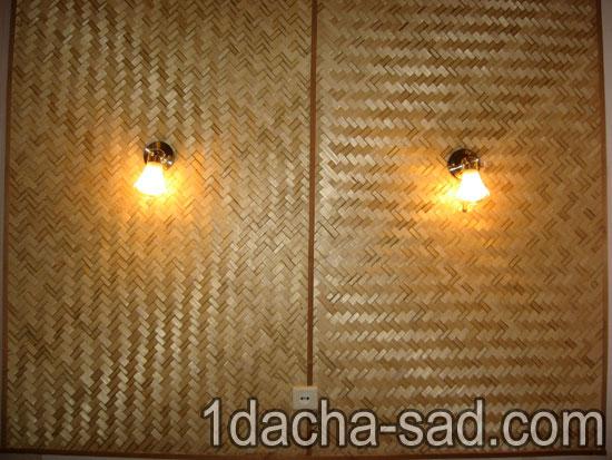 Отделка стен при помощи бамбука 1