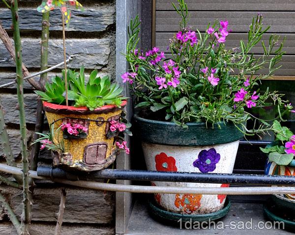 украшение сада своими руками фото (9)
