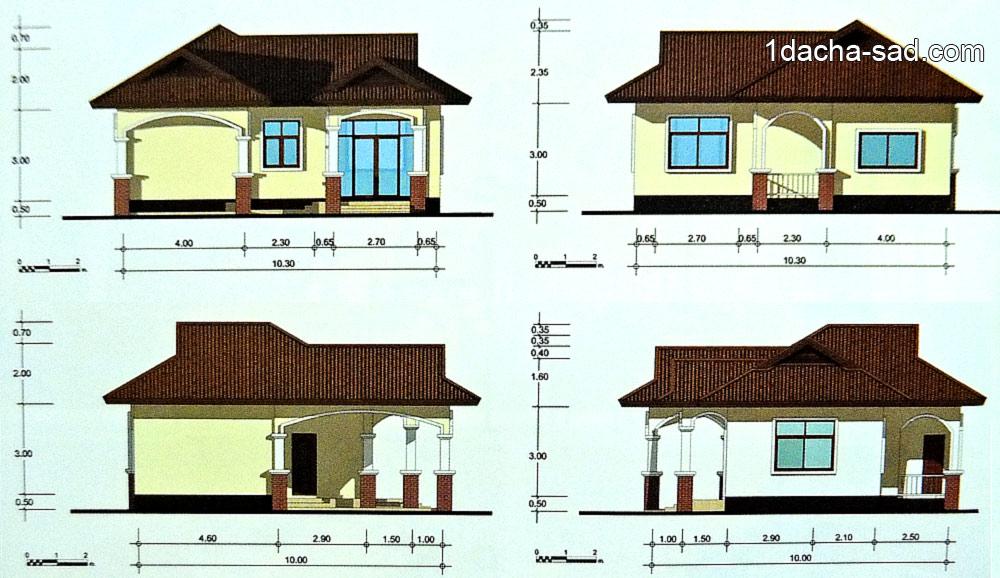 Фасад дома в осях