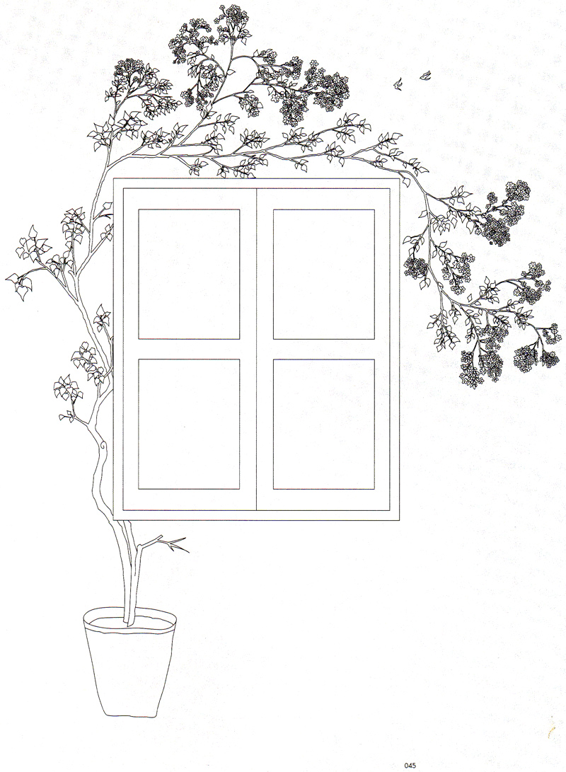 распечатать трафарет роспись на окне