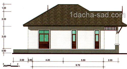 небольшой дом с гаражом