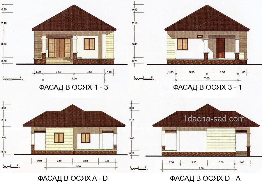 проект одноэтажного дома из газобетона