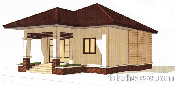 проект загородного дома из газобетона