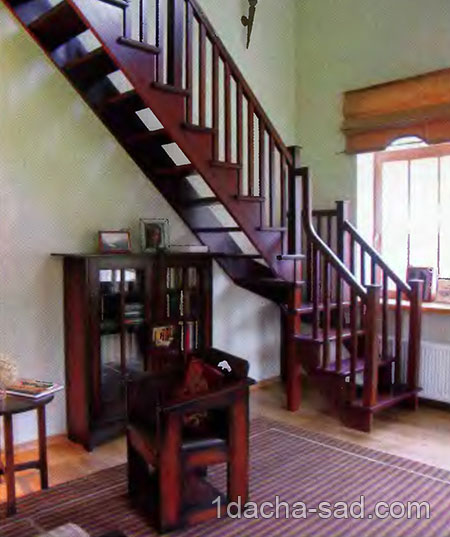 Виды лестниц на второй этаж или мансарду в доме