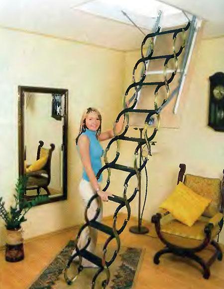 Складная чердачная лестница