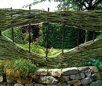 Плетень из ивовых прутьев 7