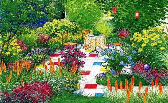 Две идеи ландшафтного дизайна для маленького сада f-3