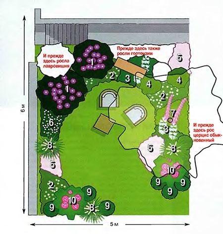 Схема ландшафтного дизайна для